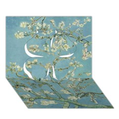 Almond Blossom Tree Clover 3D Greeting Card (7x5)