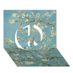Almond Blossom Tree Peace Sign 3D Greeting Card (7x5)