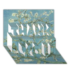 Almond Blossom Tree THANK YOU 3D Greeting Card (7x5)