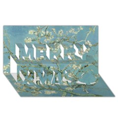 Almond Blossom Tree Merry Xmas 3d Greeting Card (8x4)