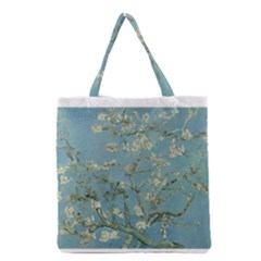 Almond Blossom Tree Grocery Tote Bags