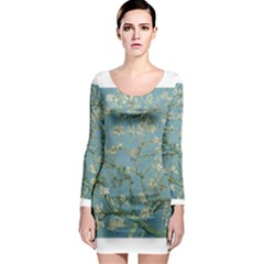 Almond Blossom Tree Long Sleeve Bodycon Dresses