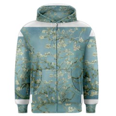 Almond Blossom Tree Men s Zipper Hoodies