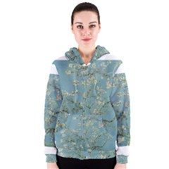 Almond Blossom Tree Women s Zipper Hoodies