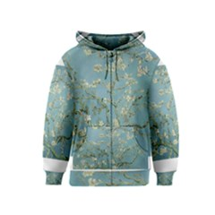 Almond Blossom Tree Kids Zipper Hoodies
