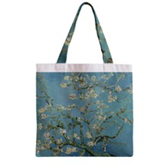 Almond Blossom Tree Zipper Grocery Tote Bags