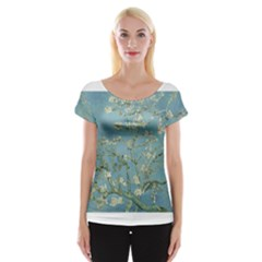 Almond Blossom Tree Women s Cap Sleeve Top