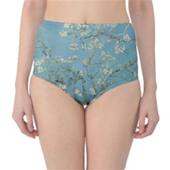 Almond Blossom Tree High-Waist Bikini Bottoms