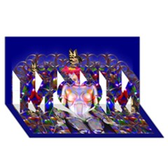 Robot Butterfly MOM 3D Greeting Card (8x4)