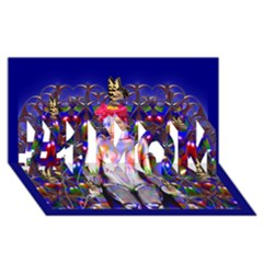 Robot Butterfly #1 MOM 3D Greeting Cards (8x4)