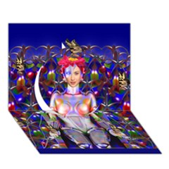 Robot Butterfly Circle 3D Greeting Card (7x5)