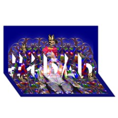 Robot Butterfly #1 DAD 3D Greeting Card (8x4)