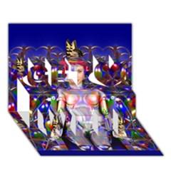 Robot Butterfly Get Well 3d Greeting Card (7x5)