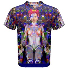 Robot Butterfly Men s Cotton Tees