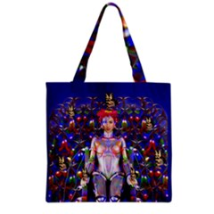 Robot Butterfly Grocery Tote Bags