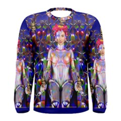 Robot Butterfly Men s Long Sleeve T-shirts