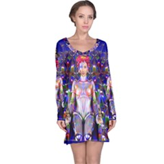 Robot Butterfly Long Sleeve Nightdresses