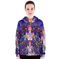 Robot Butterfly Women s Zipper Hoodies