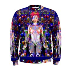 Robot Butterfly Men s Sweatshirts