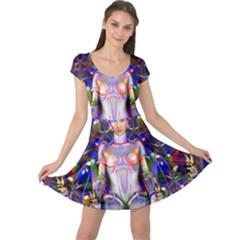Robot Butterfly Cap Sleeve Dresses