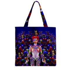 Robot Butterfly Zipper Grocery Tote Bags