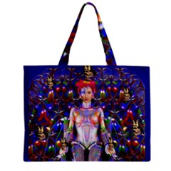 Robot Butterfly Zipper Tiny Tote Bags