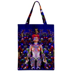 Robot Butterfly Zipper Classic Tote Bags