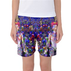 Robot Butterfly Women s Basketball Shorts
