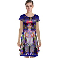 Robot Butterfly Cap Sleeve Nightdresses