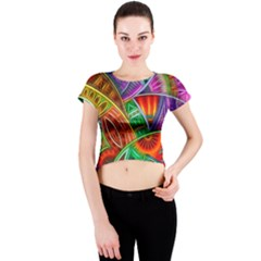 Happy Tribe Crew Neck Crop Top