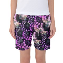 Hippy Fractal Spiral Stacks Women s Basketball Shorts