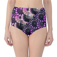 Hippy Fractal Spiral Stacks High-Waist Bikini Bottoms