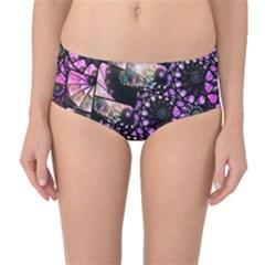 Hippy Fractal Spiral Stacks Mid Waist Bikini Bottoms