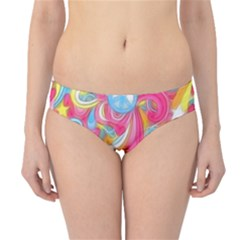 Hippy Peace Swirls Hipster Bikini Bottoms