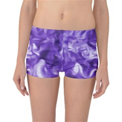 Lavender Smoke Swirls Boyleg Bikini Bottoms