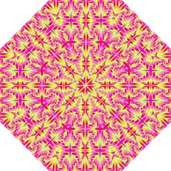 Pink and Yellow Rave Pattern Golf Umbrellas