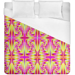 Pink And Yellow Rave Pattern Duvet Cover Single Side (kingsize)