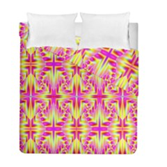Pink And Yellow Rave Pattern Duvet Cover (twin Size)