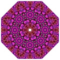 Pink Fractal Kaleidoscope  Hook Handle Umbrellas (small)