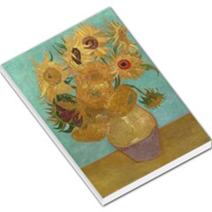 Vincent Willem Van Gogh, Dutch   Sunflowers   Google Art Project Large Memo Pads