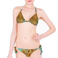 Vincent Willem Van Gogh, Dutch   Sunflowers   Google Art Project Bikini Set