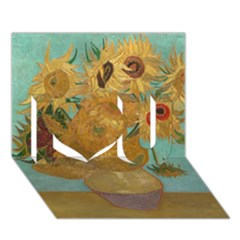 Vincent Willem Van Gogh, Dutch   Sunflowers   Google Art Project I Love You 3d Greeting Card (7x5)