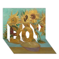 Vincent Willem Van Gogh, Dutch   Sunflowers   Google Art Project BOY 3D Greeting Card (7x5)