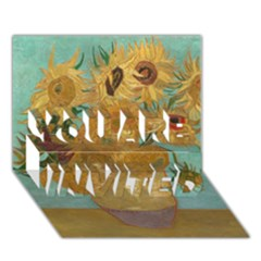 Vincent Willem Van Gogh, Dutch   Sunflowers   Google Art Project YOU ARE INVITED 3D Greeting Card (7x5)