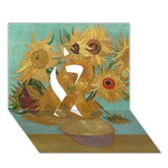 Vincent Willem Van Gogh, Dutch   Sunflowers   Google Art Project Ribbon 3d Greeting Card (7x5)