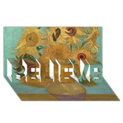 Vincent Willem Van Gogh, Dutch   Sunflowers   Google Art Project Believe 3d Greeting Card (8x4)