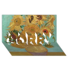 Vincent Willem Van Gogh, Dutch   Sunflowers   Google Art Project SORRY 3D Greeting Card (8x4)