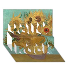 Vincent Willem Van Gogh, Dutch   Sunflowers   Google Art Project You Rock 3D Greeting Card (7x5)