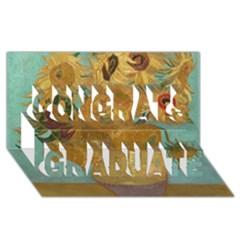 Vincent Willem Van Gogh, Dutch   Sunflowers   Google Art Project Congrats Graduate 3D Greeting Card (8x4)