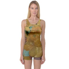 Vincent Willem Van Gogh, Dutch   Sunflowers   Google Art Project Women s Boyleg One Piece Swimsuits